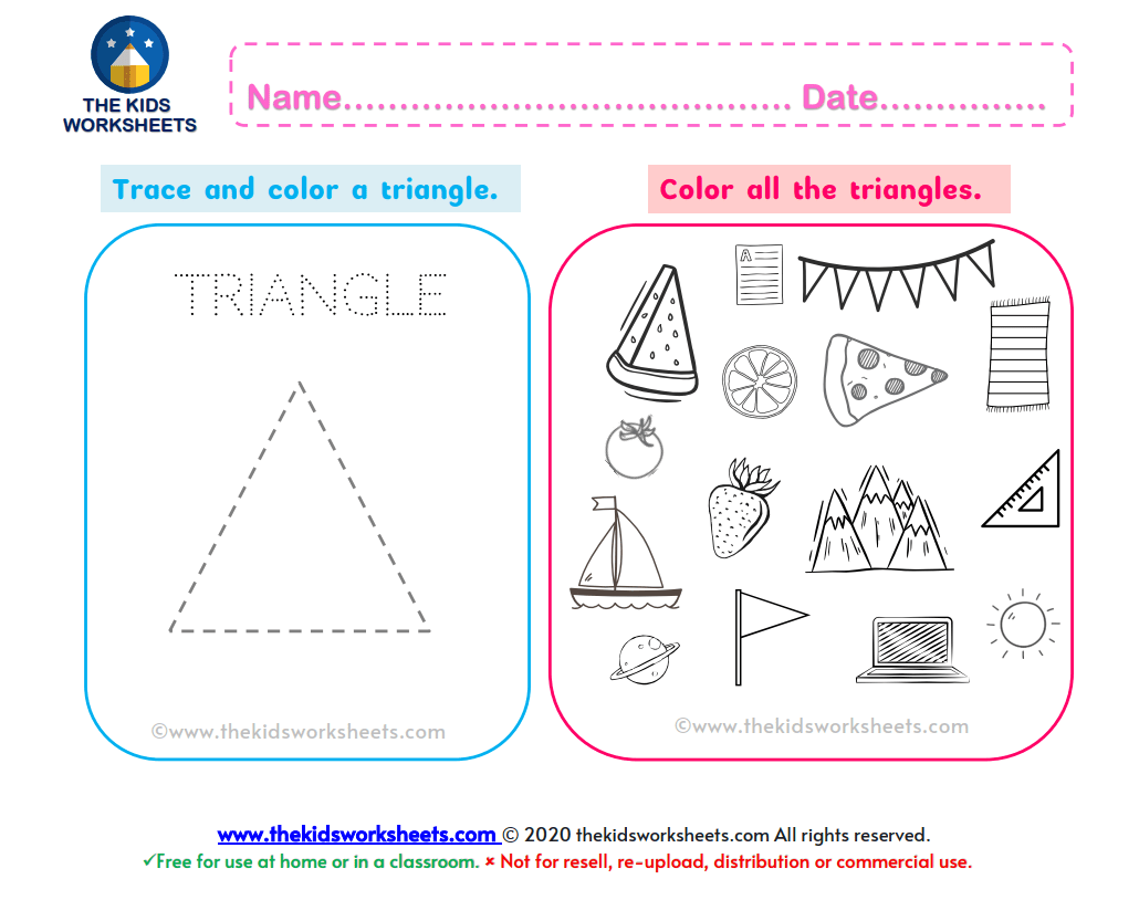 Shapes Triangle Worksheet The Kids Worksheets