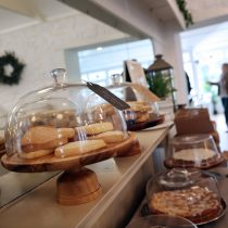 Homemade cakes at The Kiln, Guernsey.