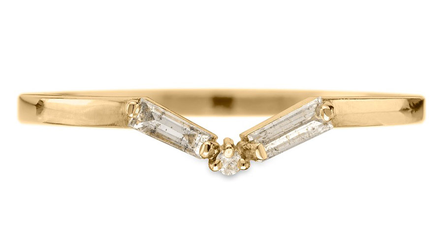 Baguette-Diamond-V-Band