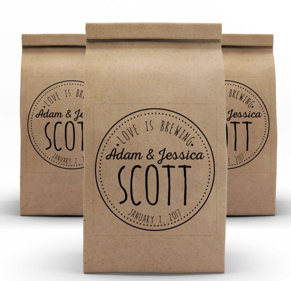 Coffee Wedding Favors Packaging