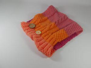 1 - Orange front, pink back