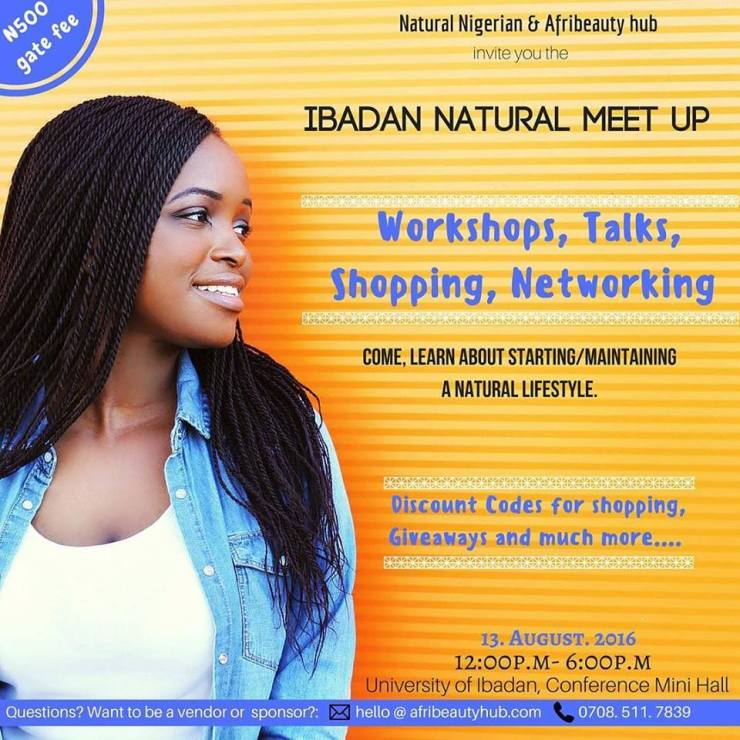 Natural hair events in Ibadan