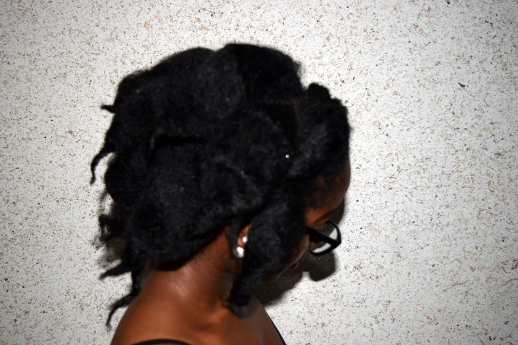 4C Natural Hair Stretched by African Threading