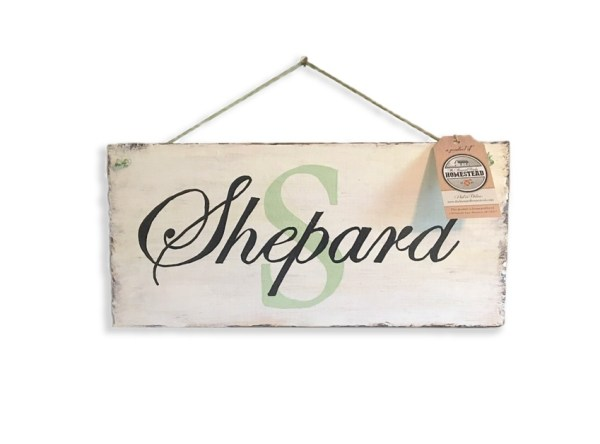 Sign-Monogram-Shepard