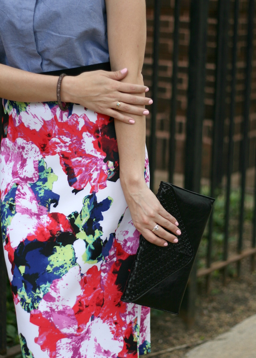 Work Wear Milly Floral Pencil Skirt The Kissing Booth Blog