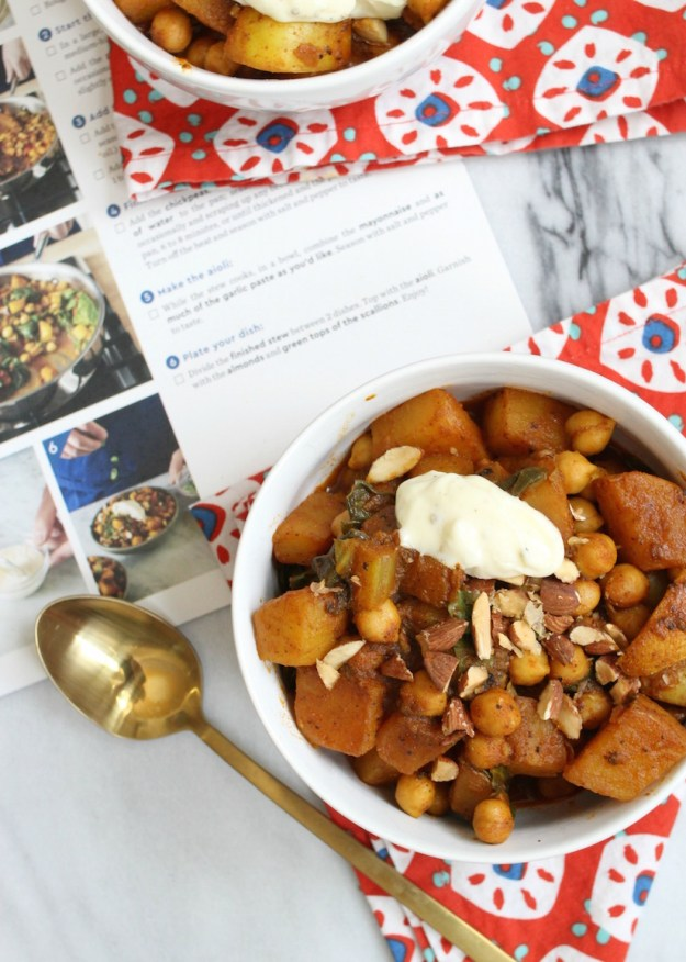 Blue Apron - Spanish-style Potato & Chickpea Stew Dinner