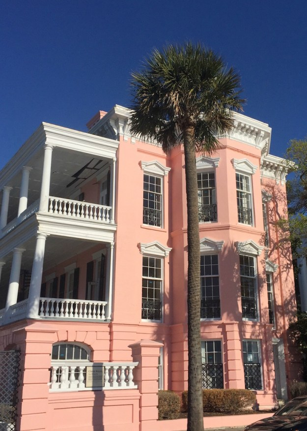 Pink house downtown Charleston, SC