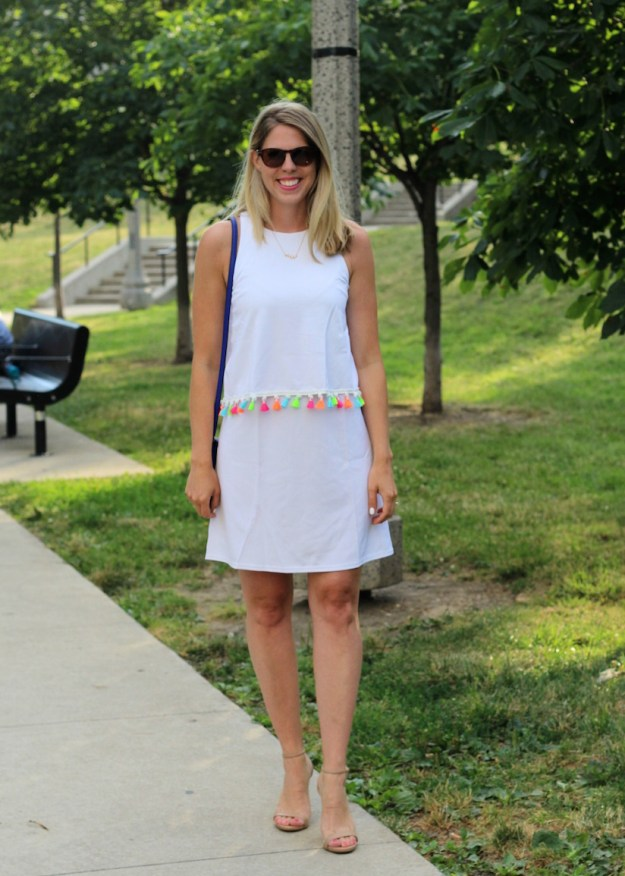 Shein white tassel dress