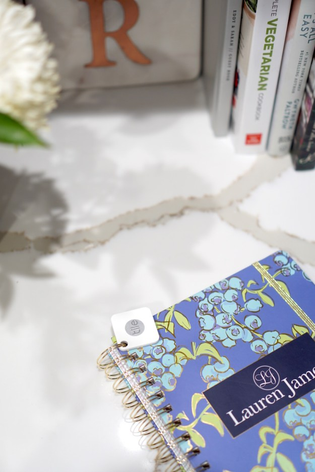 Lauren James Planner with a Tile on it
