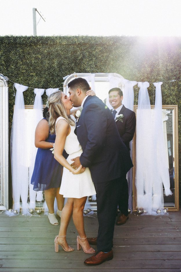 We Held The Ceremony On Patio Then Went Inside For A Happy Hour Had Formal 3 Course Dinner Followed By Dessert From Glazed And Infused After