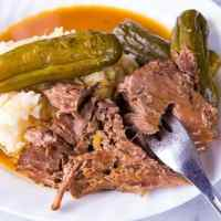 Dill Pickle Pot Roast & Pickle Gravy