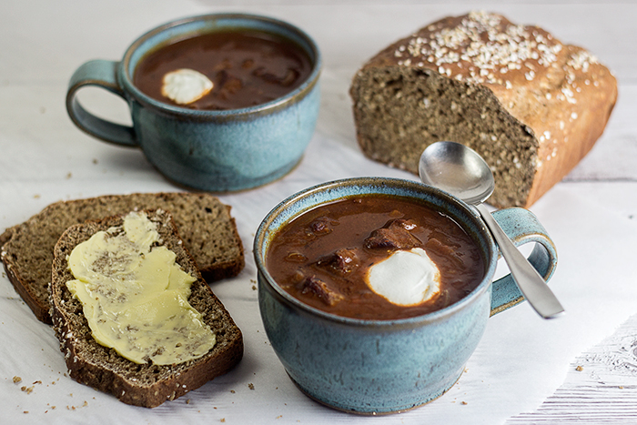 Goulash Soup (Gulaschsuppe) by the Kitchen Maus
