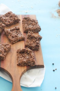 These no bake bars are perfect for a quick snack. They're filled with healthy fats, complex carbs, and protein. Plus, they're vegan, gluten free, and full of chocolate goodness!