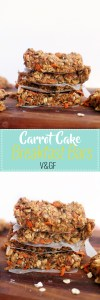 These carrot cake breakfast bars are vegan, gluten free, healthy, and absolutely delicious. They're naturally sweet, pack a ton of nutrients and flavor, and are ready in less than an hour! Have these crumbled over yogurt with some nut butter for a quick and delicious snack or light breakfast.