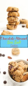 Chocolate Almond Sea Salt & Dark Chocolate Chip Cookies that are vegan, filled with flavor, and the perfect dessert. They're sweet, chocolate packed, and a great addition to any dessert platter.