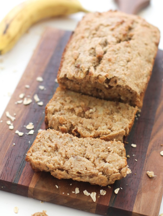 Fluffy vegan & gluten free banana bread that's naturally sweet, full of flavor, and comes together in under an hour. It requires minimal ingredients and one bowl, which makes it the perfect afternoon snack.