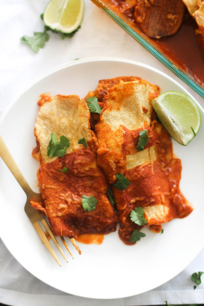 Roasted Corn and Sweet Potato Enchilada's