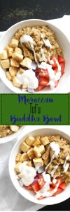 This Moroccan tofu buddha bowl is vegan, gluten free, protein packed, and full of nutrients. It comes together in under an hour and requires minimal ingredients, plus it makes for the perfect meal prep lunch.