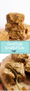 This carrot cake breakfast cake is vegan, gluten free, and packed with flavor! It's fluffy, easy to make, and a great brunch dish.