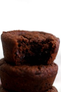 These one bowl double chocolate chip muffins are vegan, gluten free, and the perfect dessert! They're naturally sweet, easy to make, and are a great snack.