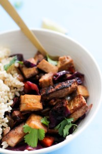 This 30 minute vegetable tofu stir-fry is vegan, gluten free, and filled with plant based protein. It's incredibly hearty, easy to make, and is a great quick meal!