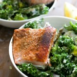 Zesty Winter Kale Salmon Salad
