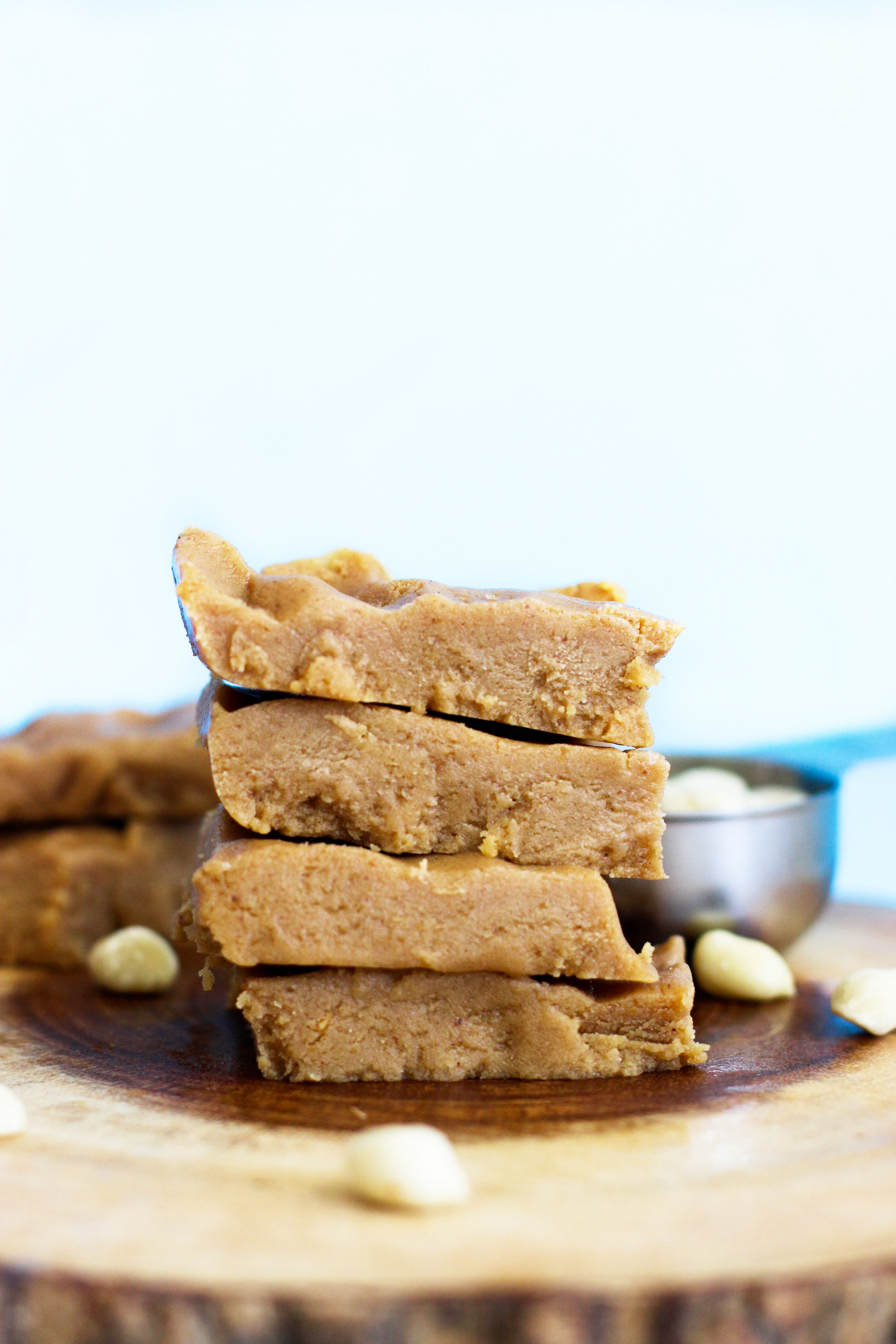 These 5 ingredient peanut butter protein bars are vegan, gluten free, paleo, refined sugar free, and protein packed! Made with simple, wholesome ingredients, they'rethe perfect snack bar.