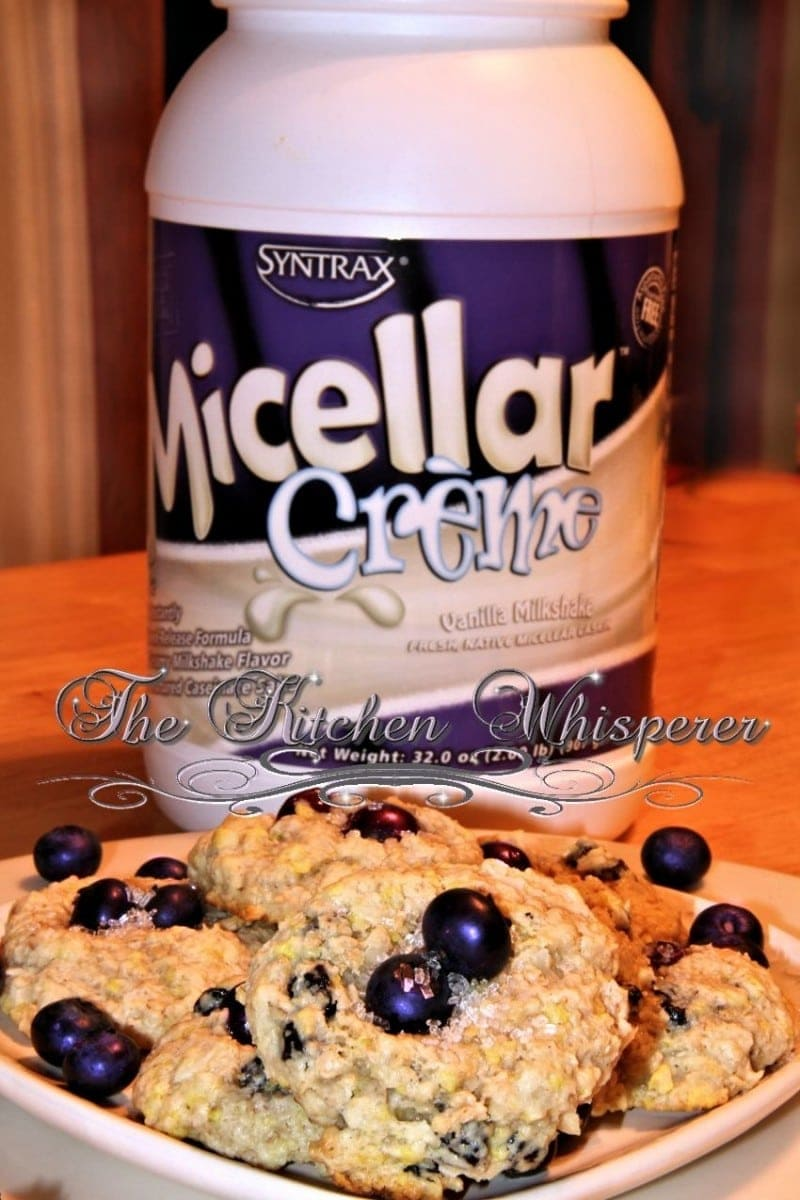 Protein Packed Lemony Coconut Blueberry Cookies2