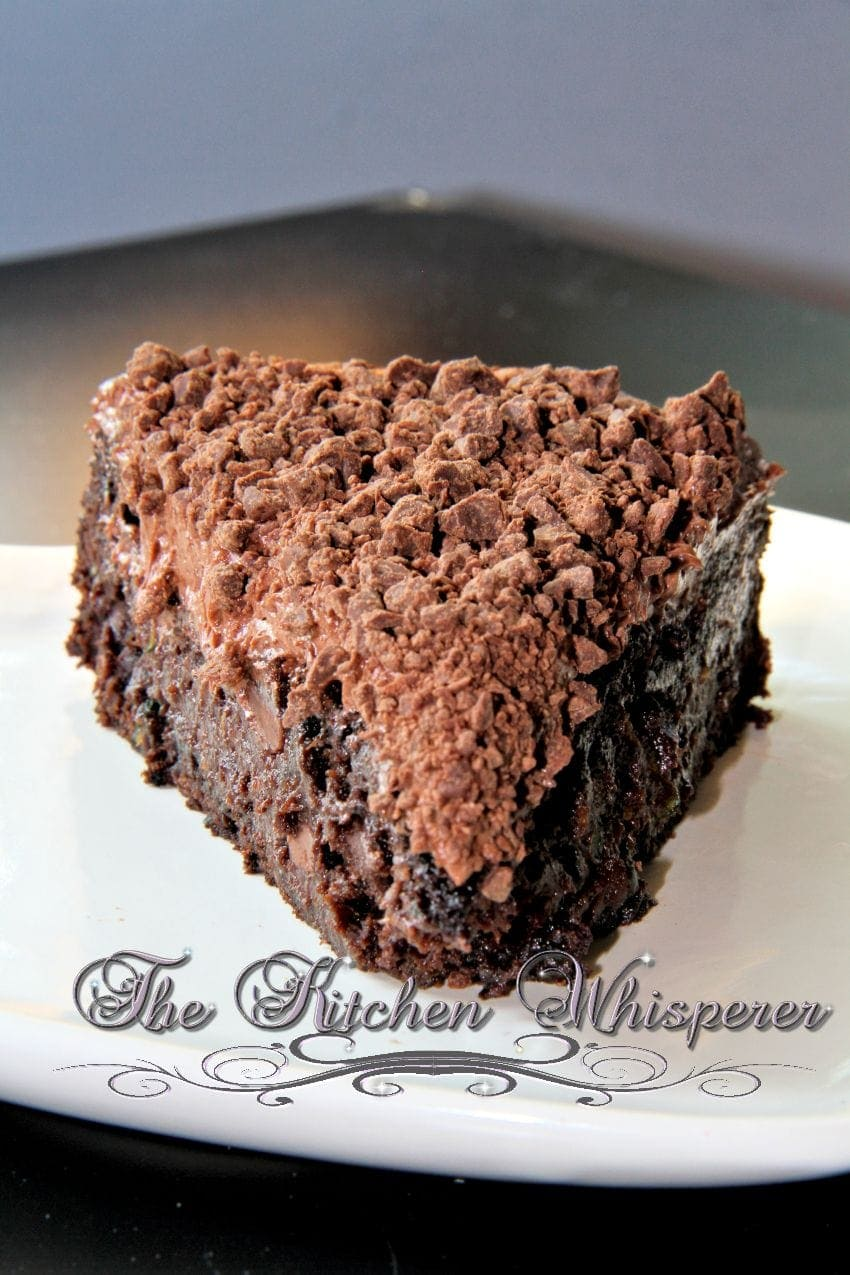 Chocolate Zucchini Brownie with Old Fashioned Chocolate Frosting1