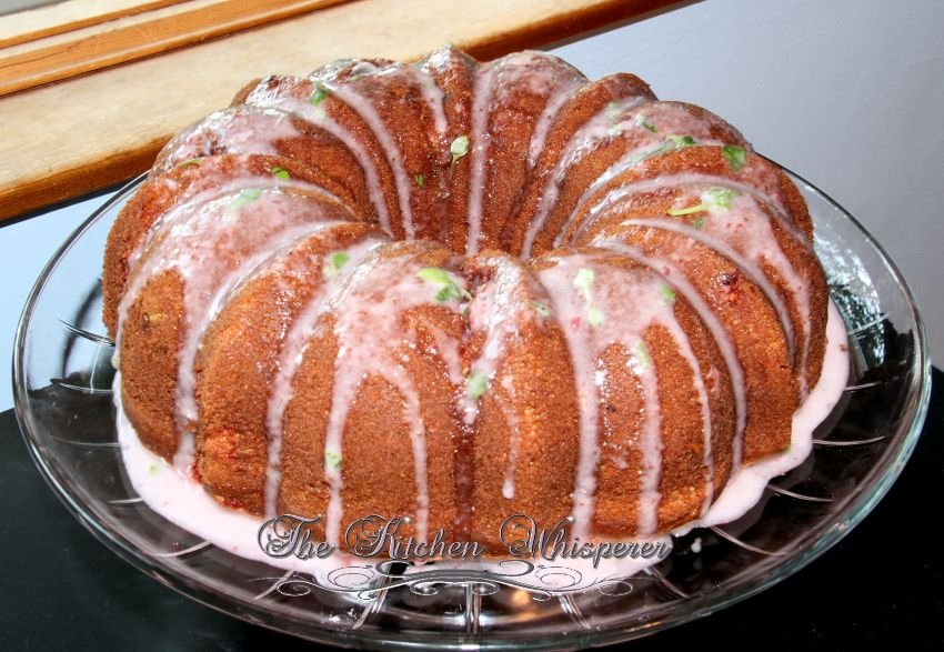 Strawberry Basil Zucchini Cake1
