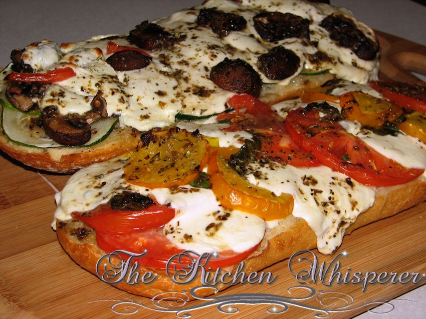 French Bread Garden Pizza3