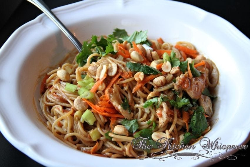 Thai Noodles with Chicken in a Spicy Peanut Sauce5
