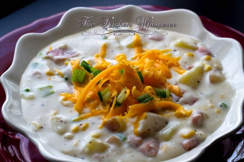 Creamy Ham Potato Corn Chowder