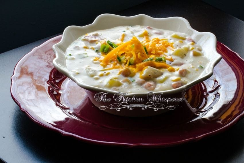 Creamy Ham Potato Corn Chowder3