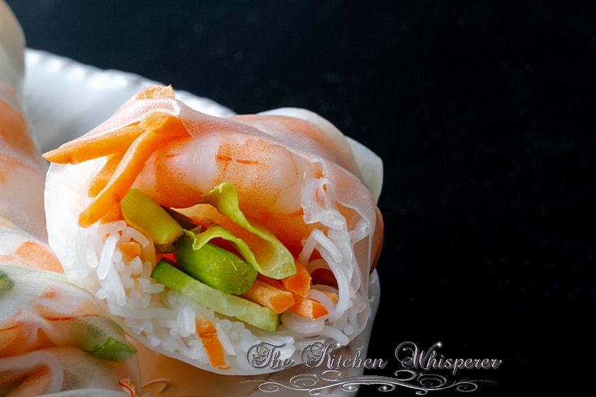 Thai Peanut Shrimp Summer Rolls