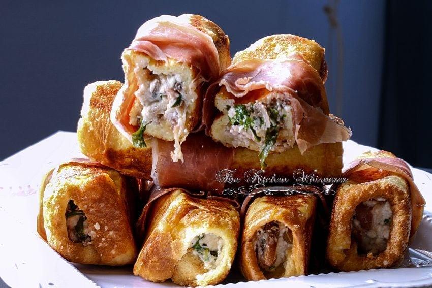 Savory Ricotta Mushroom Pancetta stuffed French Toast5