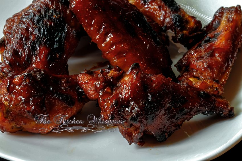 Pressure Cooker Wings with Bourbon Honey Sauce2