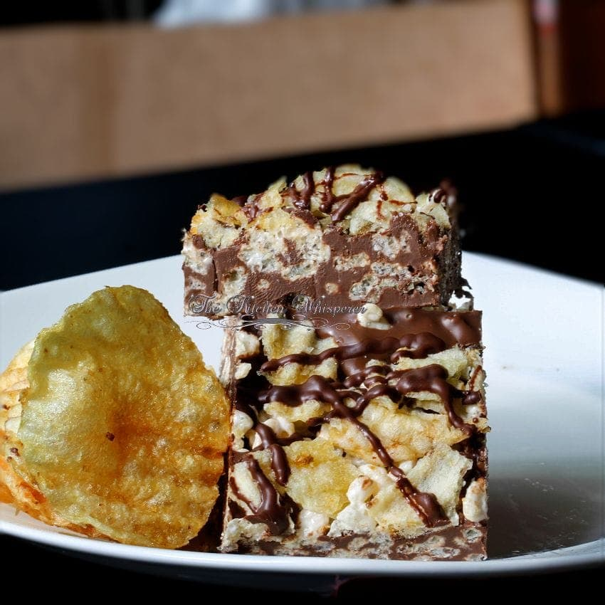 Potato Chip Rice Crispy Treat Triple Chocolate Bark1
