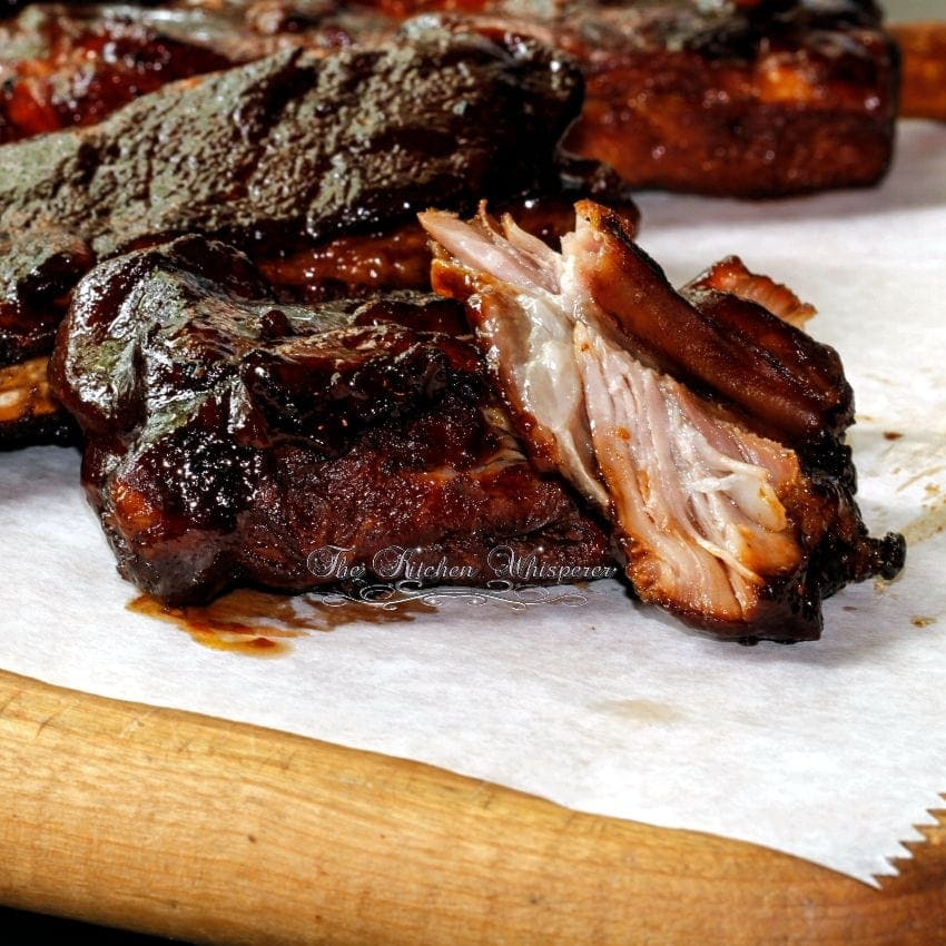 Pressure Cooker St. Louis Ribs with Whiskey BBQ Sauce