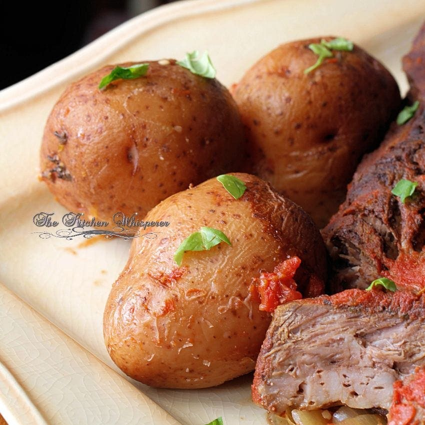Italian Style Pot Roast potatoes