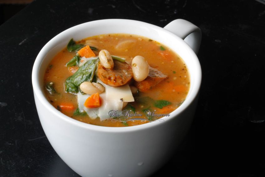 Tuscan White Bean & Sausage Spinach Soup1