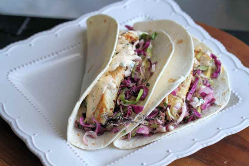 Grilled Fish Tacos with Baja Cream Sauce12