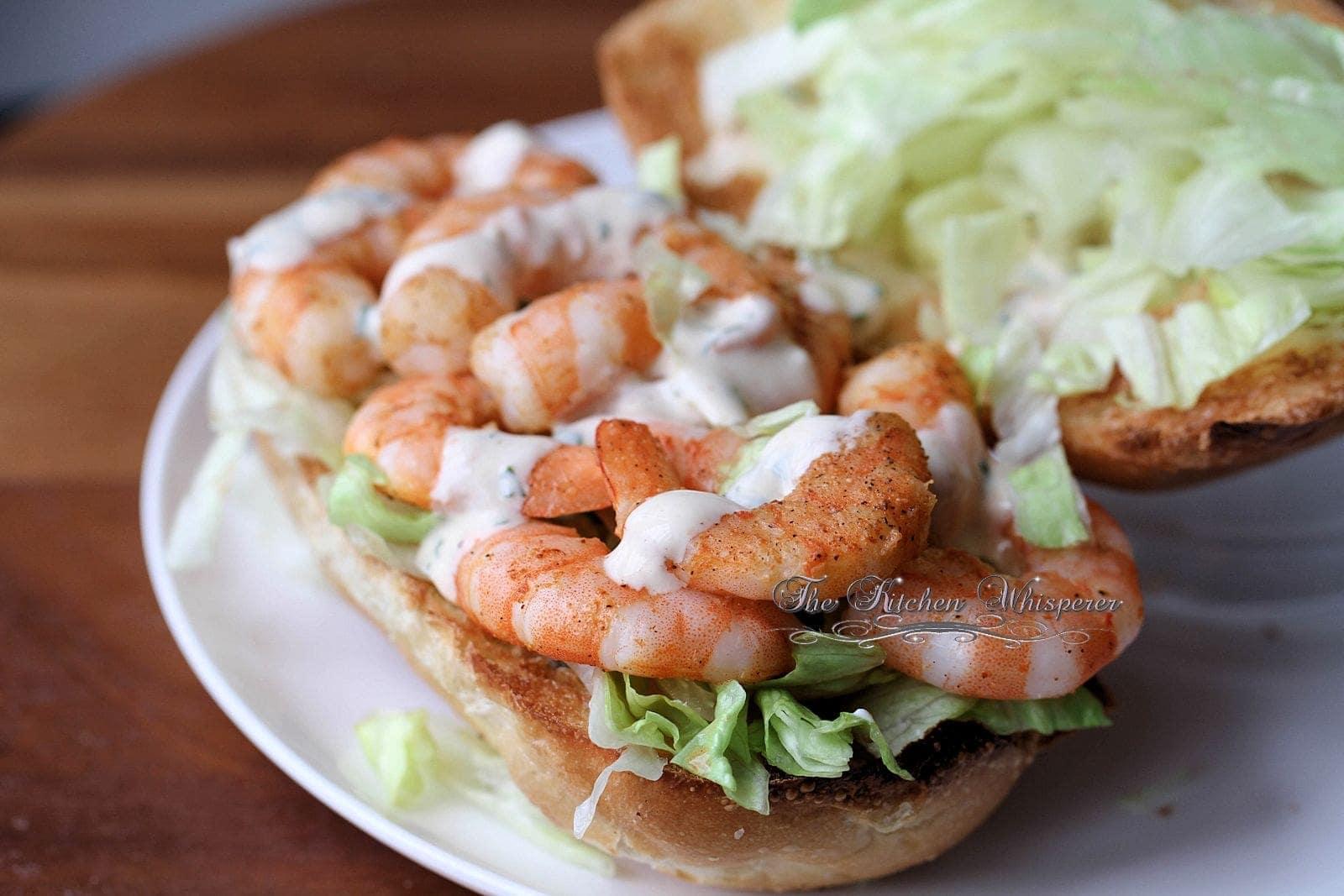how many calories in a shrimp po boy sandwich
