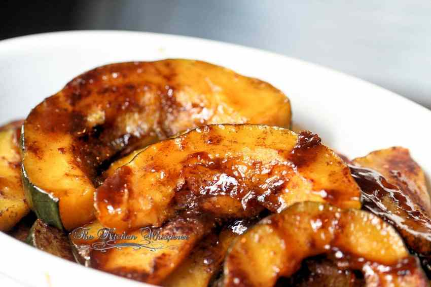Roasted Maple Brown Sugar Cinnamon Acorn Squash