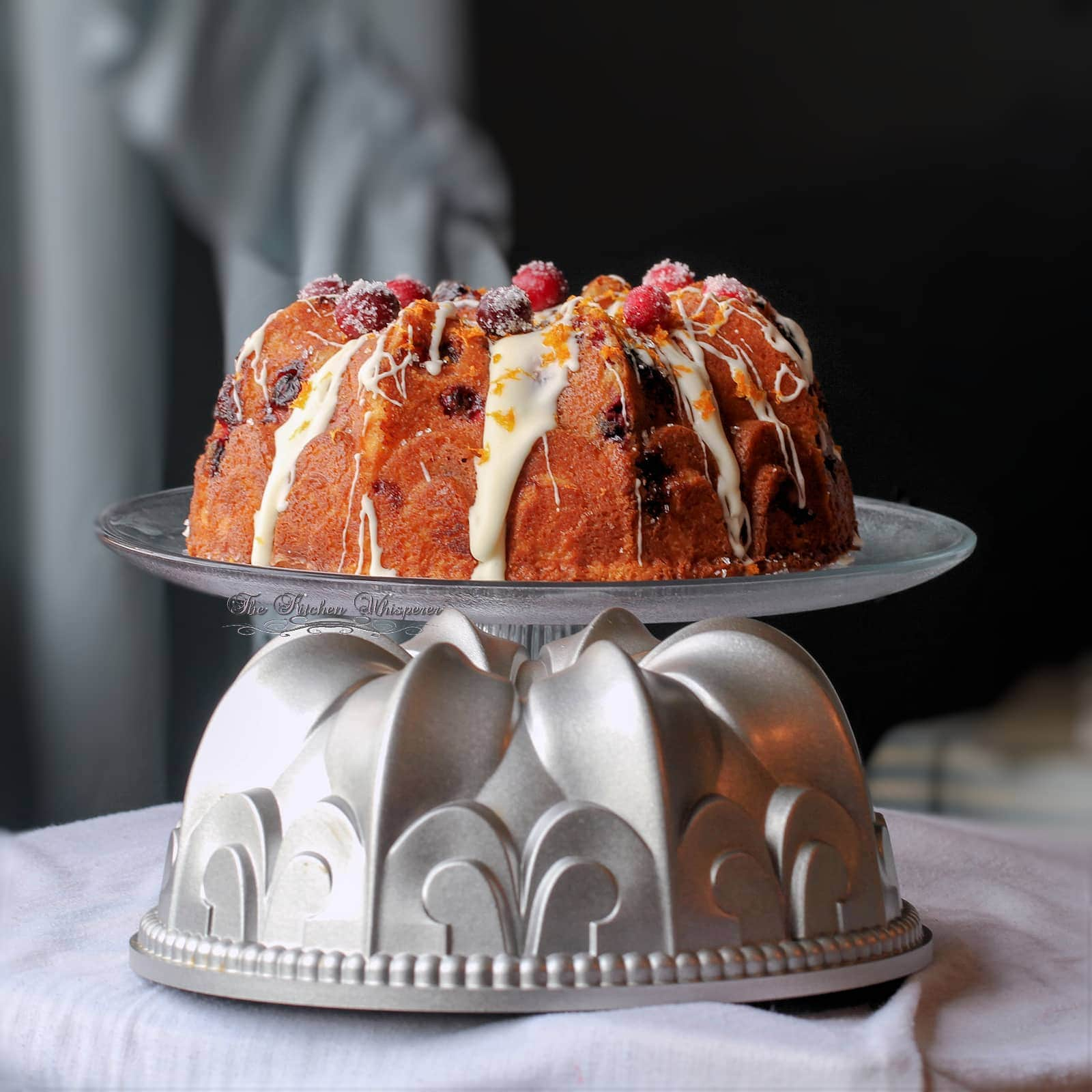 Swirled Orange Cheesecake Cranberry Orange Bundt Cake