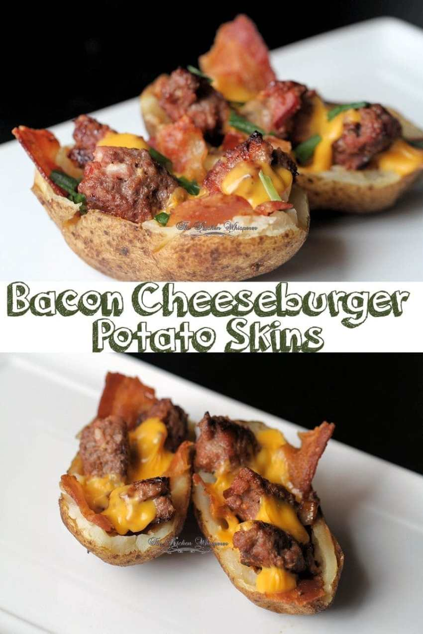 Bacon Cheeseburger Stuffed Potatoes Collage
