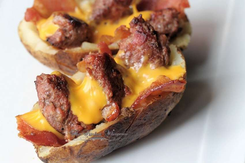 Bacon Cheeseburger Stuffed Potatoes7