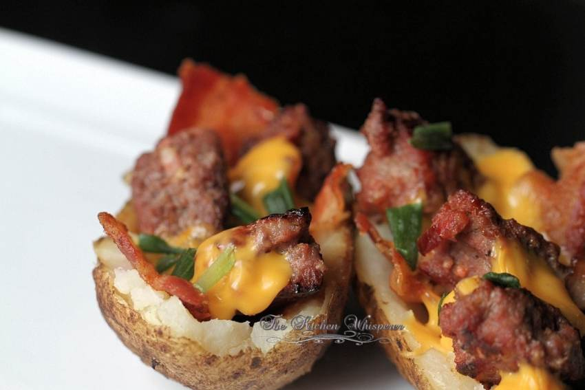 Bacon Cheeseburger Stuffed Potatoes9