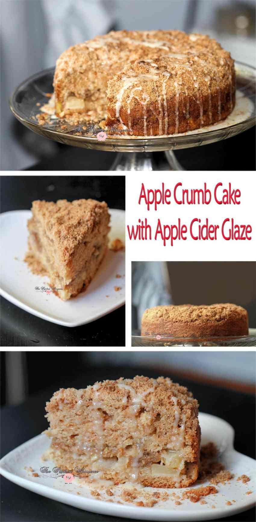 Apple Crumb Cake Collage