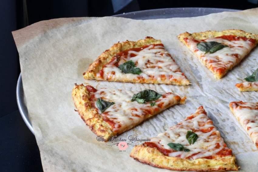 Cheesy Spaghetti Squash Crust Pizza2